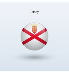 Jersey round flag vector