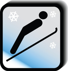 Winter icon -jumps vector