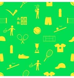 Tennis sport theme seamless green pattern eps10 vector