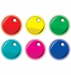 set of colored circle labels vector image