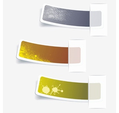 Multi-colored realistic stickers vector