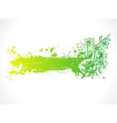 green design with butterflies vector image