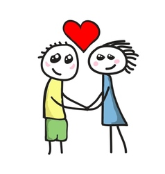 Love between boy and girl vector