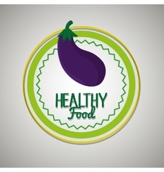 Healthy food seal isolated icon design vector