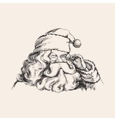 A Smiling Santa Claus Portrait vector image