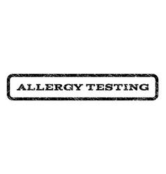 allergy testing watermark stamp vector image