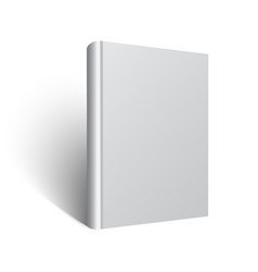 blank book mockup eps vector image vector image