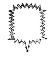 Blurred silhouette square callout scream for vector