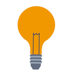bulb lamp creative business on white background vector image