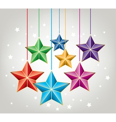 colorful stars vector image vector image