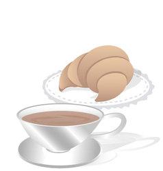 Cornet and coffee vector
