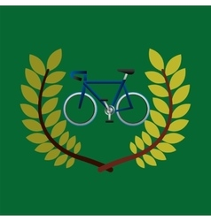 Cycling olympic games emblem vector