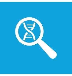 Dna analysis icon simple vector