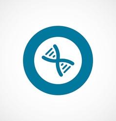 DNA bold blue border circle icon vector image