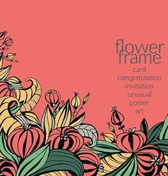 fancy flowers vector image vector image