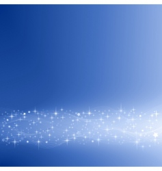 festive blue background with stars vector image