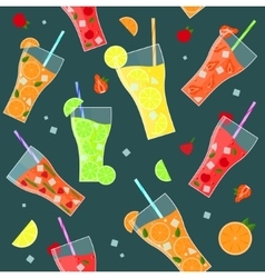 Fruit Lemonades Background Pattern vector image vector image