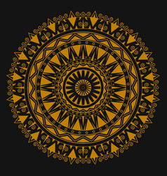 Golden ornament mandala for business printing vector
