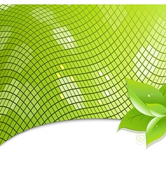 Green Eco Background With Leaves vector image vector image