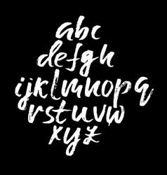 Handwritten modern dry brush lettering vector