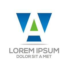 Letter sales blue symbol vector