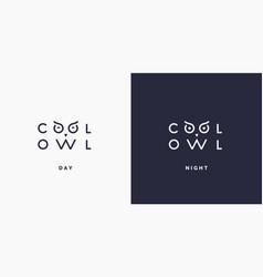 Minimalistic and stylish logo owl modern vector