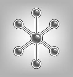 Molecule sign pencil sketch vector