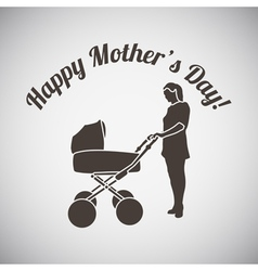 Mothers day emblem vector