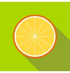 Orange slice icon flat style vector