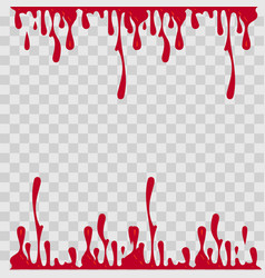 paint drop abstract red blood on vector image vector image