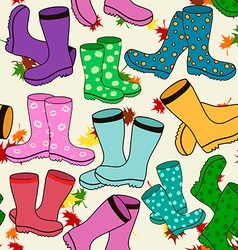 Seamless pattern of gumboots vector