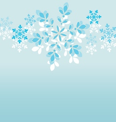 snowflake-background vector image vector image