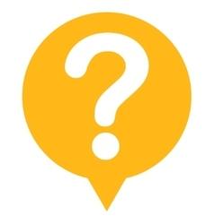 Status flat yellow color icon vector