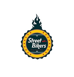 vintage motorcycle badge theme vector image