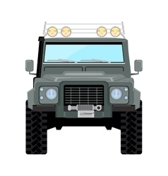 khaki offroad car truck 4x4 vector image
