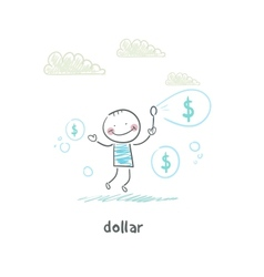 Dollars - bubbles vector