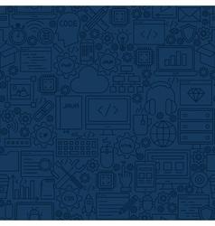 Blue programming line tile pattern vector