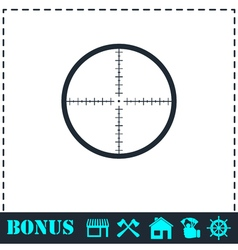 Aim icon flat vector