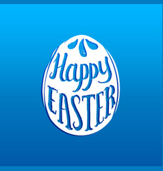 Happy easter greeting card with hand lettering in vector
