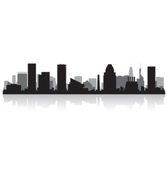 Baltimore usa city skyline silhouette vector