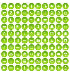 100 stylist icons set green circle vector