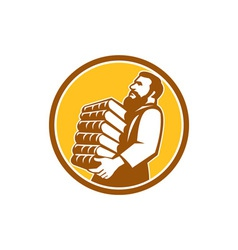 Saint jerome carrying books retro vector