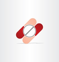 Capsules and pills pharmacy icon vector
