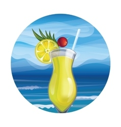Tropic exotic cocktail vector
