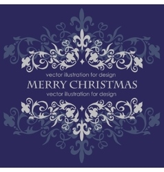 Merry christmas message and dark blue background vector