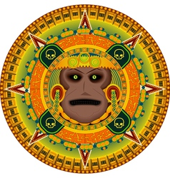 Ancient god aztec vector