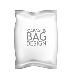 White blank foil food snack sachet bag packaging vector