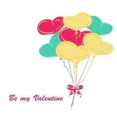 Background balloon valentine day doodle vector