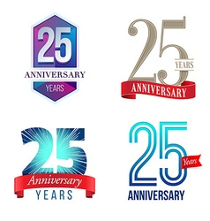 25 years anniversary symbol vector