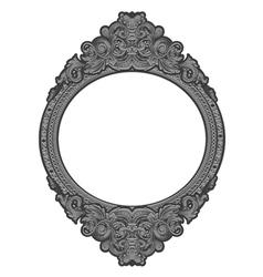 Engraved floral frame vector